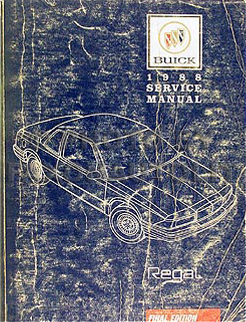 1988 Buick Regal Shop Manual Original