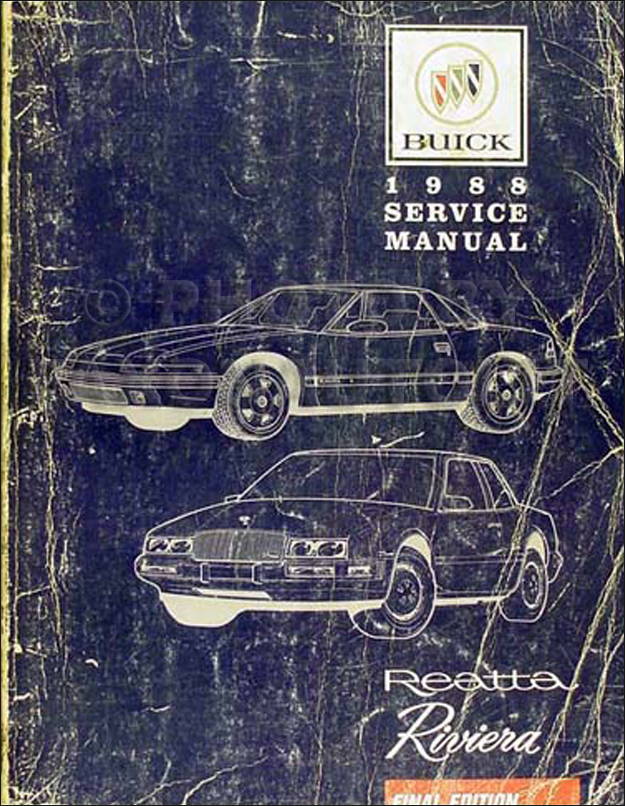 1988 Buick Riviera & Reatta Shop Manual Original
