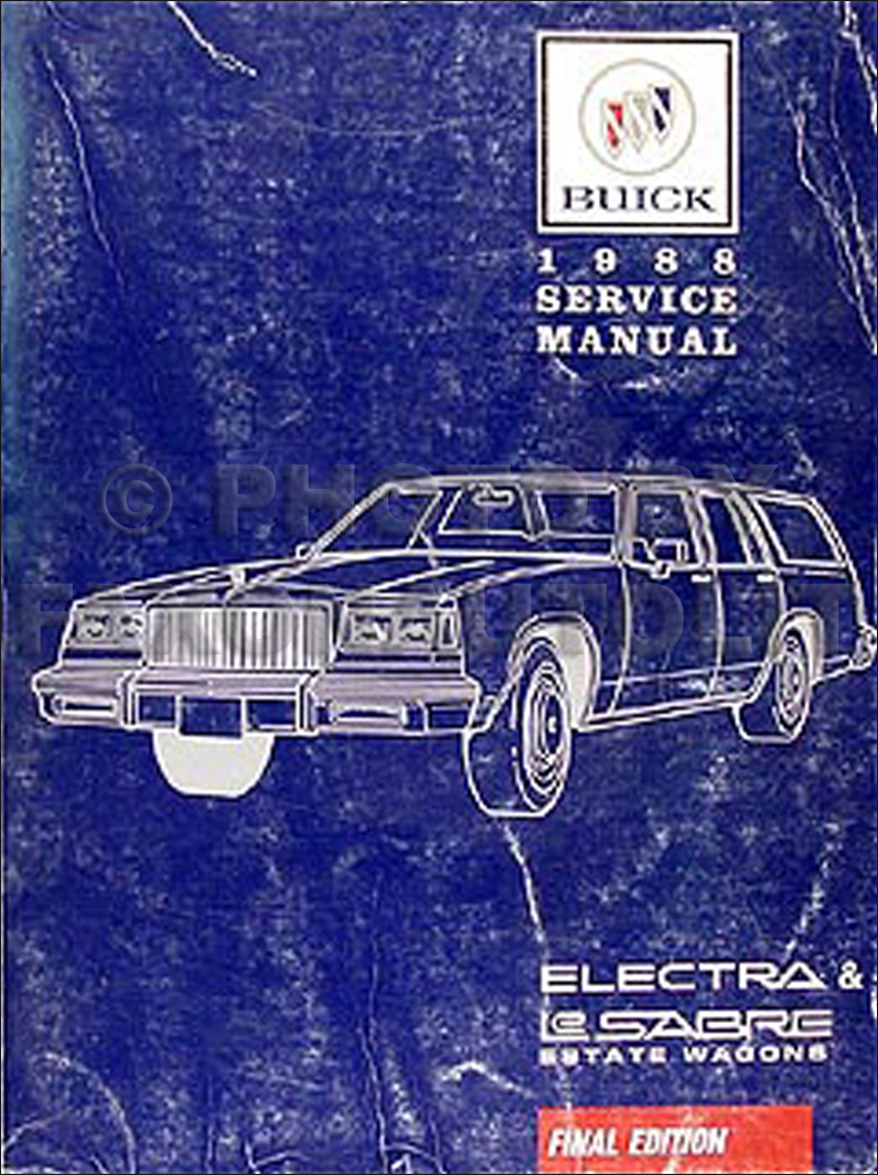 1988 Buick Electra & LeSabre Estate Wagons Shop Manual Original