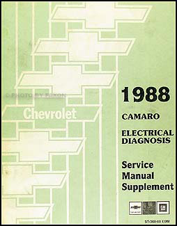 1988 Chevy Camaro Electrical Diagnosis Manual OriginalFaxon Auto Literature