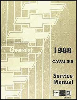 1988 Chevy Cavalier Repair Manual Original