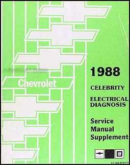 1988 Chevy Celebrity Electrical Diagnosis Manual Original