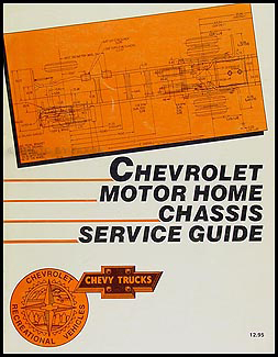 1988 Chevrolet Motor Home Repair Manual Original