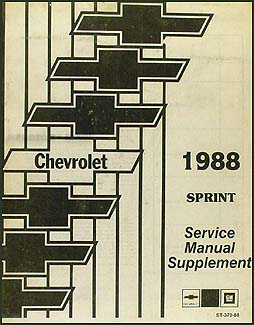 1988 Chevy Sprint Repair Shop Manual Supplement Original