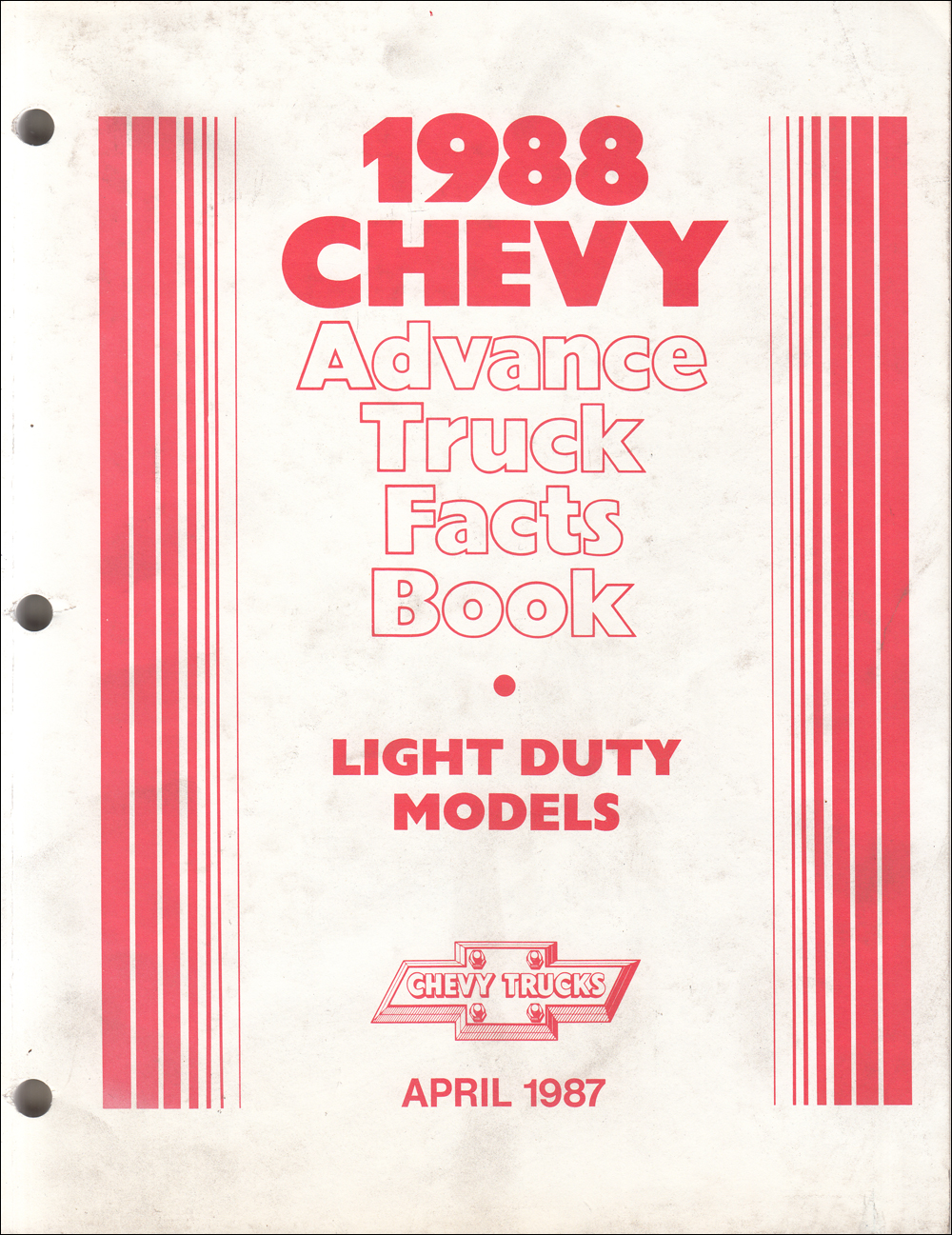 1988 Chevrolet Truck Advance Facts Book Original