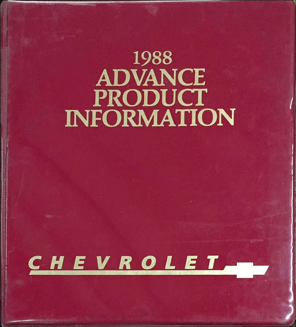 1988 Chevrolet Advance Press Kit Original