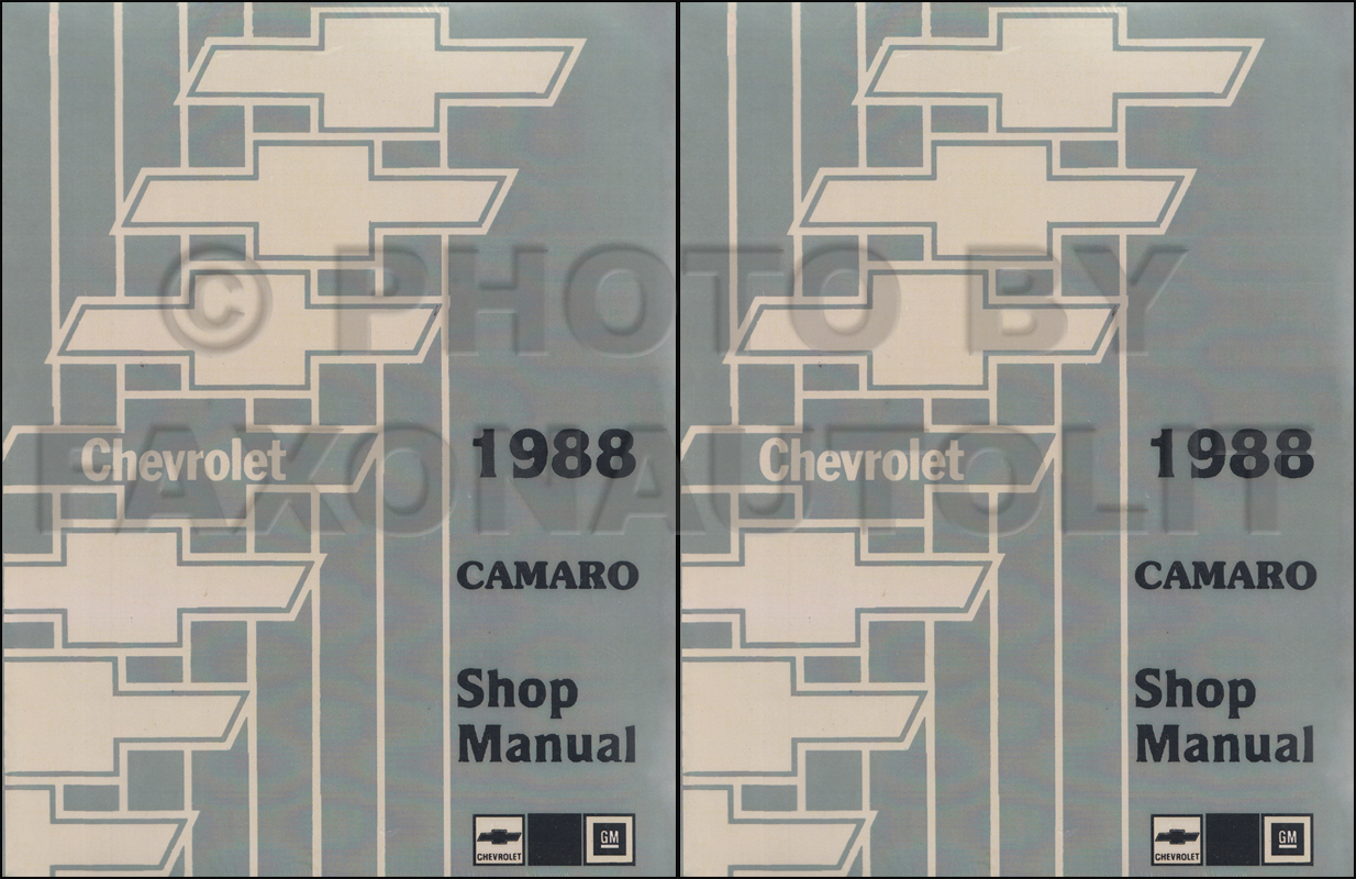 1988 Chevy Camaro Repair Manual Original