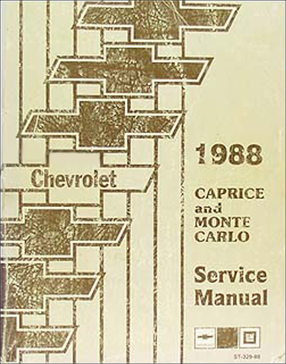 1988 Chevy Caprice & Monte Carlo Repair Manual Original