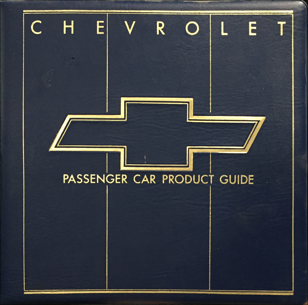1988 Chevrolet Car Color & Upholstery Dealer Album/Data Book Original