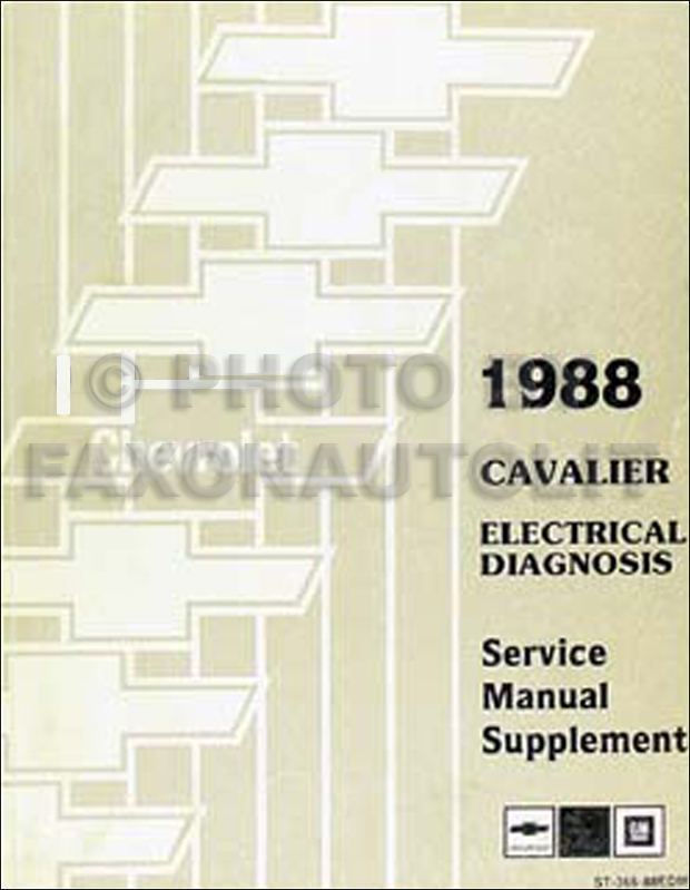 1988 Chevy Cavalier Electrical Diagnosis Manual Original