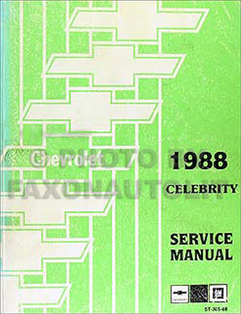 1988 Chevy Celebrity Repair Manual Original