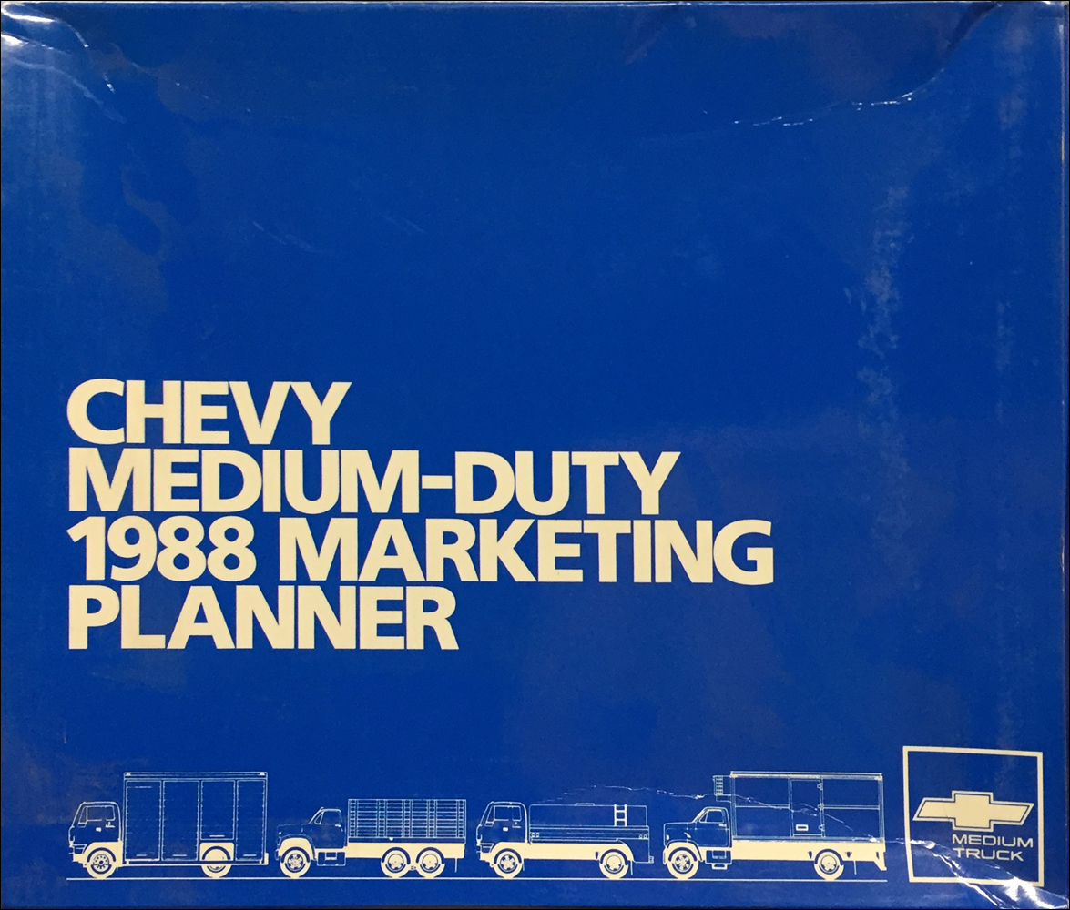 1988 Chevrolet Medium Duty Truck Dealer Advertising Planner Original