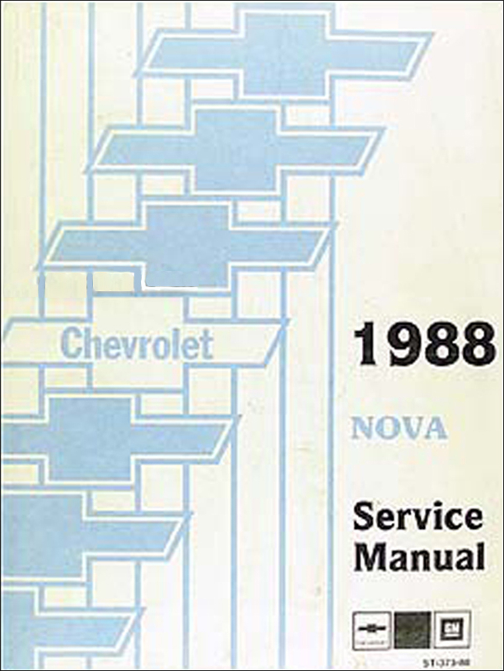 1988 Chevy Nova Shop Manual Original
