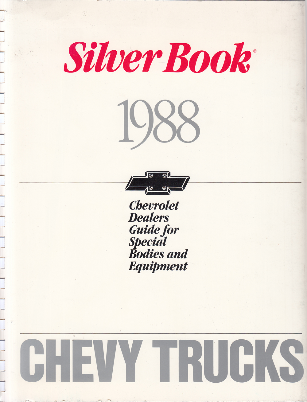 1988 Chevrolet Truck Silver Book Special Equipment Dealer Album