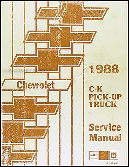 1988 Chevrolet C/K Pickup Truck Shop Manual Original