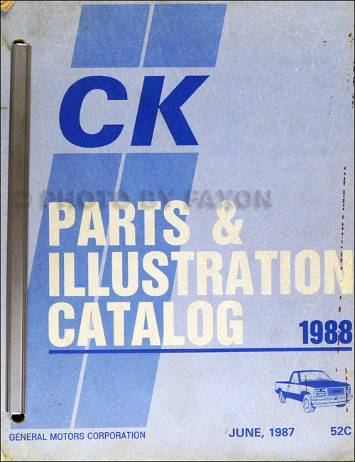 1988 chevrolet and gmc c and k 1500-3500 pickup parts book original  cheyenne sierra