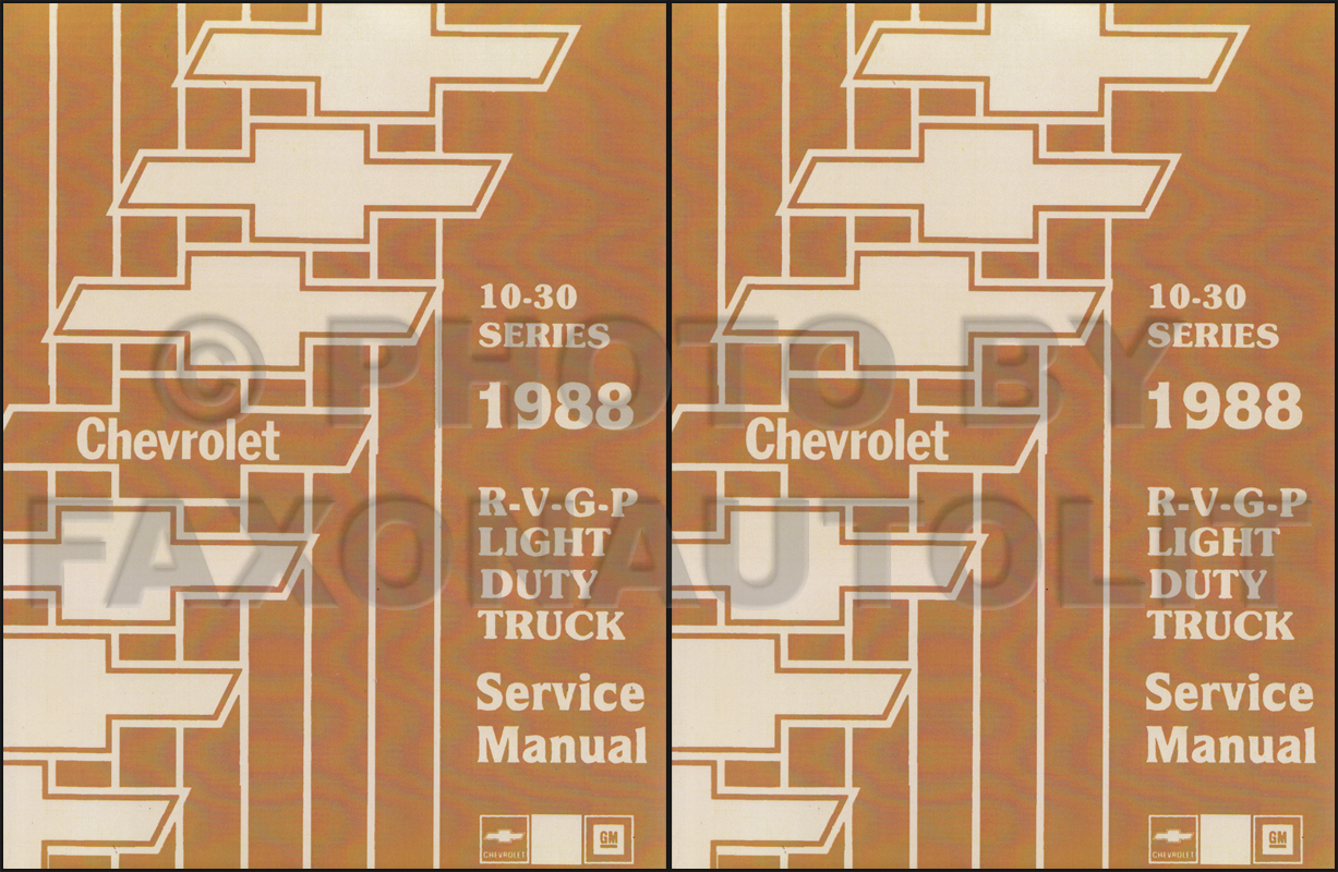 1988 Chevy Gmc P Forward Control Wiring Diagram Motorhome And Stepvan Chevrolet Diagrams Manuals Truck Repair Shop Manual Reprint Pickup Blazer Suburban Van Fc Set