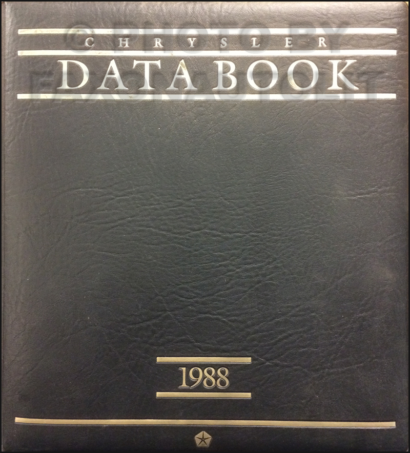 1988 Chrysler Data Book Original