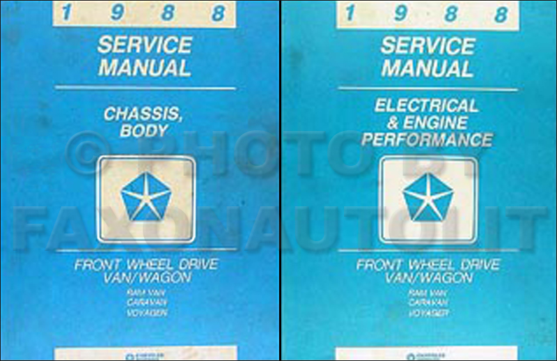 1988 Caravan and Voyager Repair Manual Original 2 Volume Set