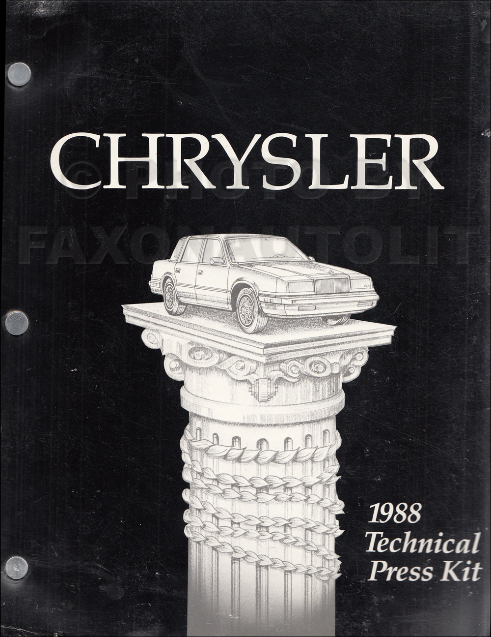 1988 Chrysler Technical Press Kit Original