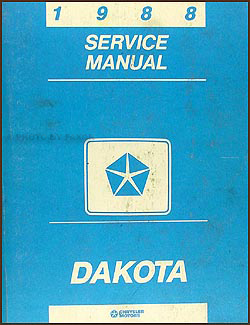 1988 Dodge Dakota Repair Manual Original