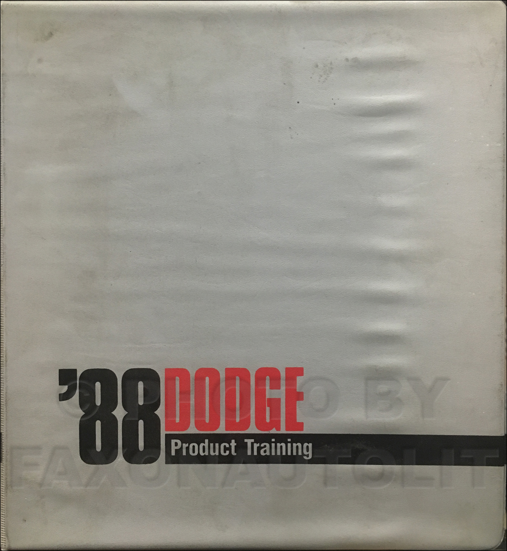 1988 Dodge Sales Training Album Original