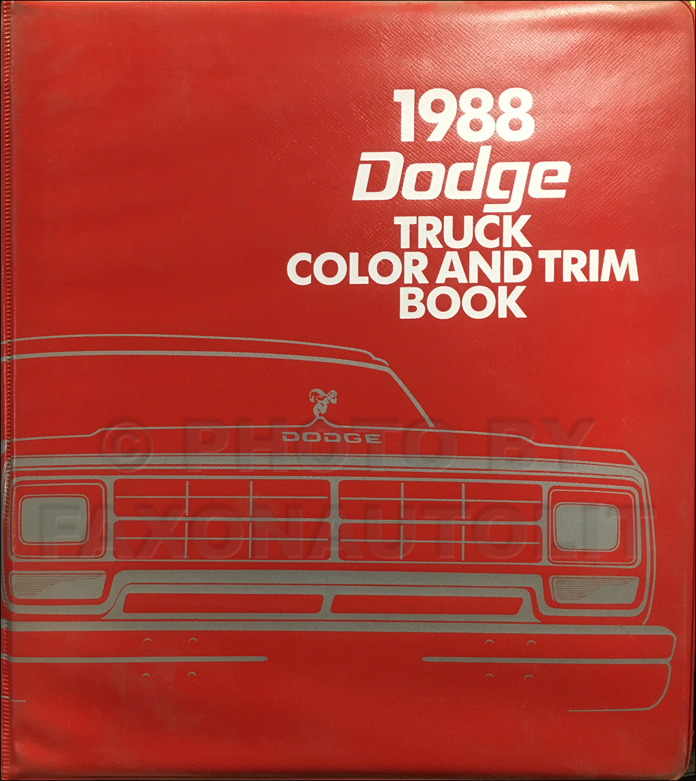 1988 Dodge Truck Color & Upholstery Dealer Album Original