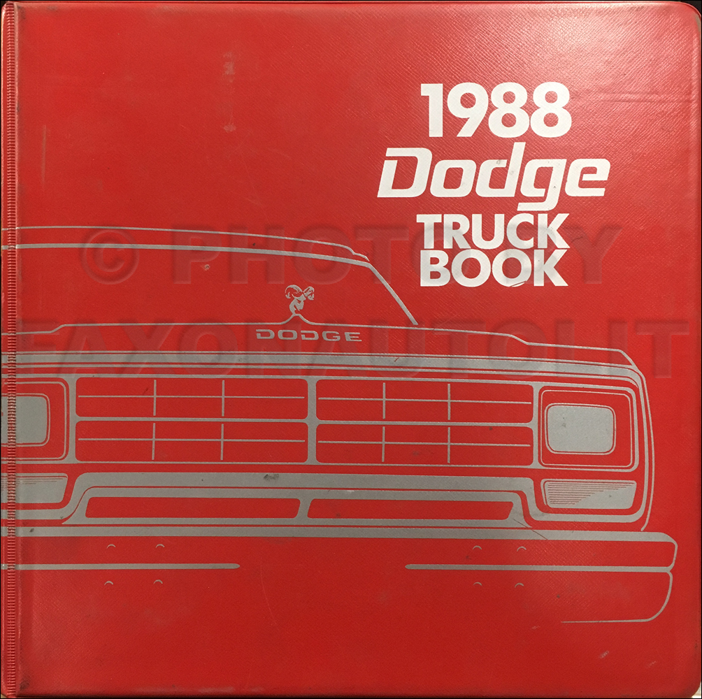 1988 Dodge Truck Color & Upholstery Album and Data Book Original