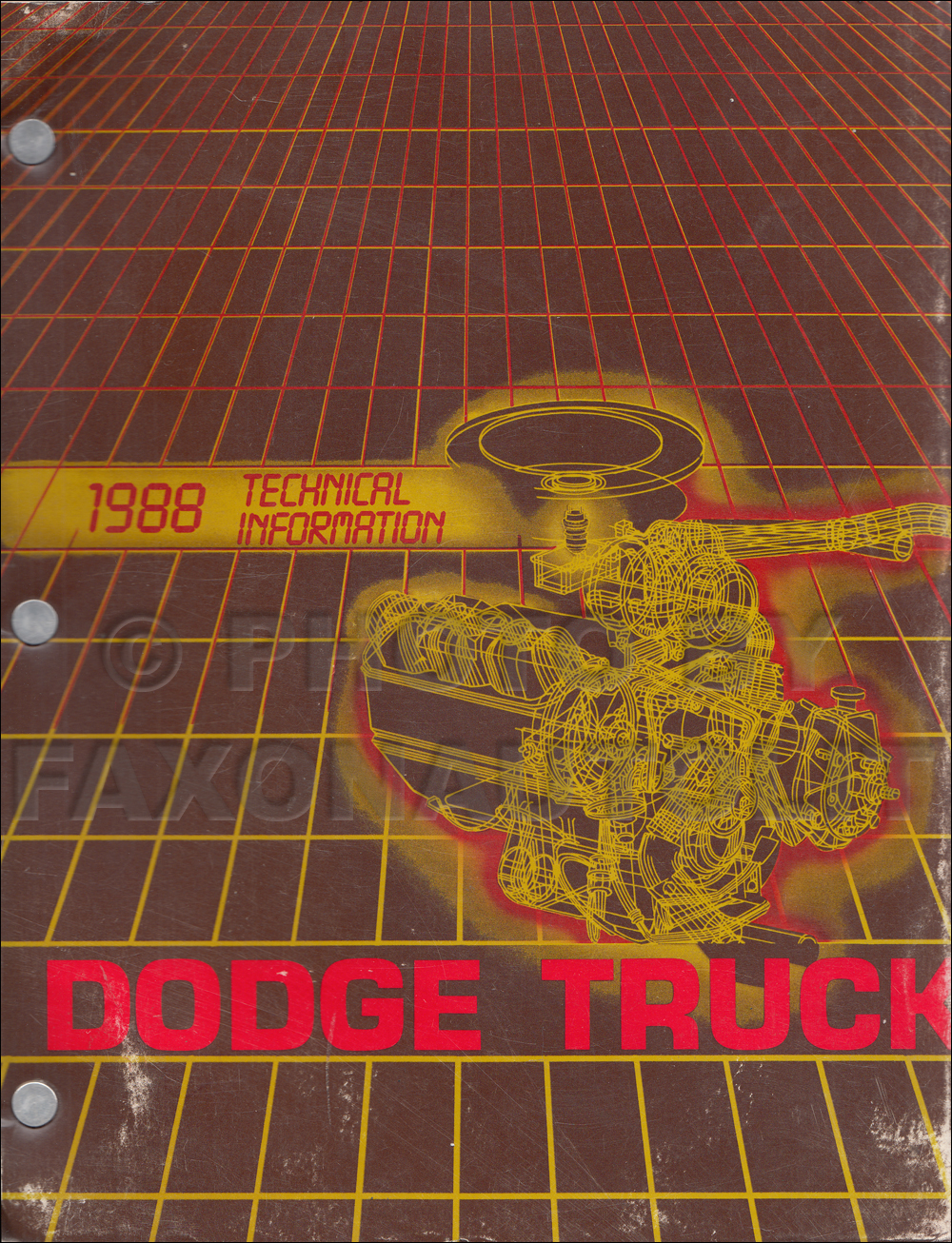 1988 Dodge Truck Technical Press Information Original