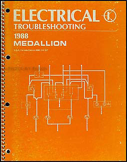 1988 Medallion Electrical Troubleshooting Manual Original