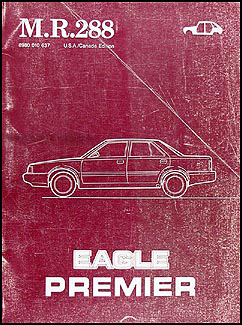 1988 Eagle Premier Body Manual Original M.R.288