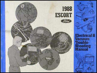 1988 Ford Escort Electrical & Vacuum Troubleshooting Manual Original
