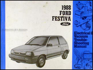 1988 Ford Festiva Original Electrical & Vacuum Troubleshooting Manual