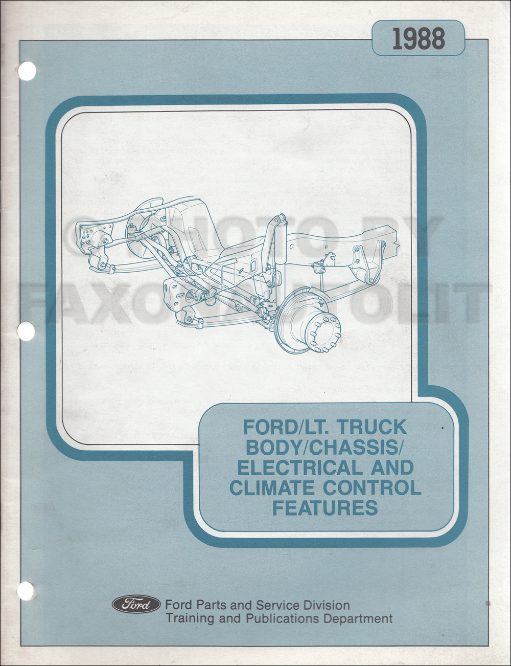 1988 Ford Brakes Suspension etc Service Training Manual