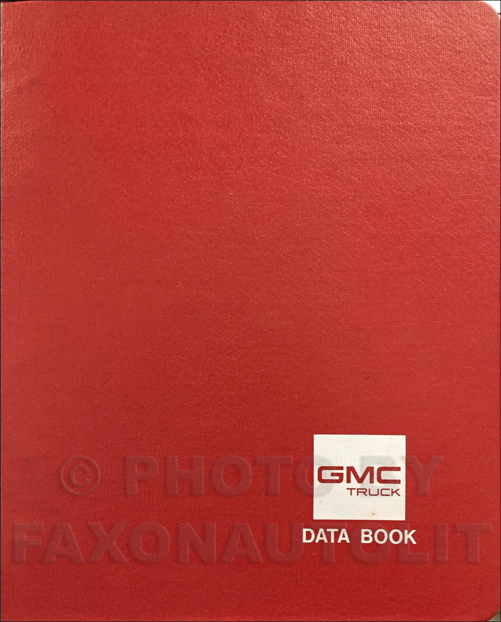 1988 GMC Light Duty Data Book Original