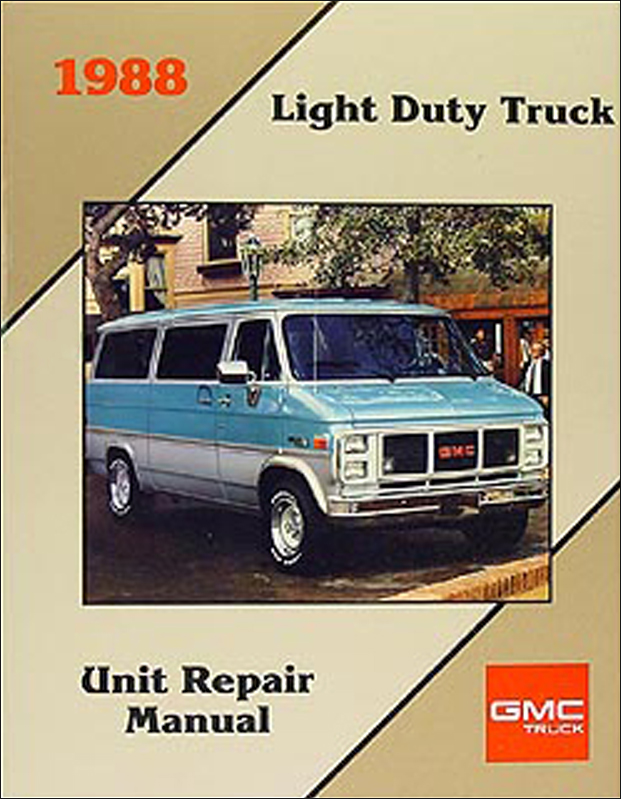 1988 GMC 1/2, 3/4, & 1 ton Truck Overhaul Manual Original