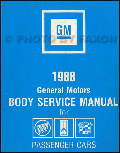 1988 GM Original Body Manual Buick, Oldsmobile, Cadillac