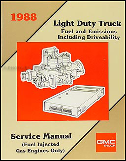 1988 GMC Fuel & Emissions Manual Original Pickup, Van, & Motorhome