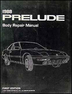 1988-1991 Honda Prelude Body Repair Manual Original