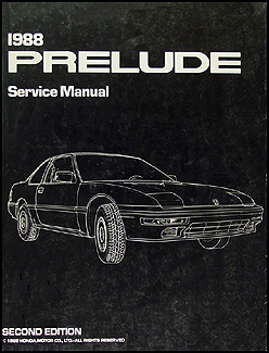 1988 Honda Prelude Repair Manual