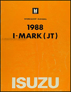 1988 Isuzu I-Mark Repair Manual Original