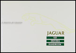 1988 Jaguar XJS Owner's Manual Original