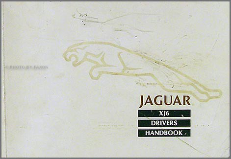 1988 ½ Jaguar XJ6 Owner's Manual Original