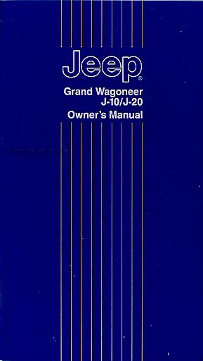 1984-1988 jeep grand wagoneer j10 j20 truck repair shop manual reprint mr253