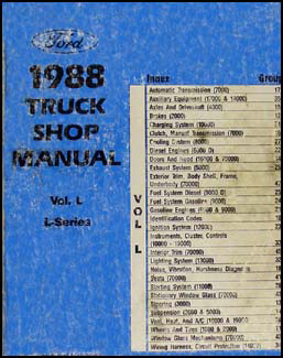 1988 Ford L-Series Truck Repair Shop Manual LN/T LL LS LT LTL LTS 7000-9000
