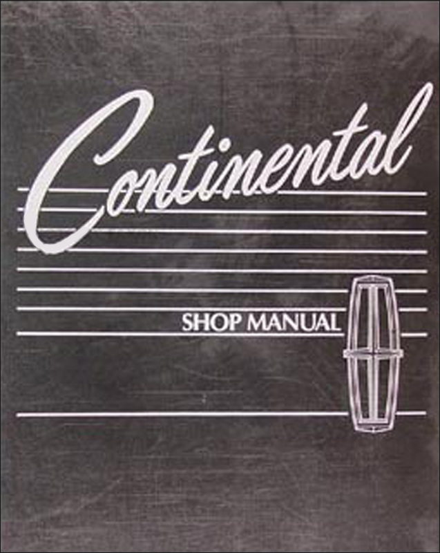 1988 Lincoln Continental Repair Manual Original