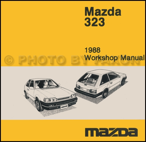 1987 Mazda 323 Repair Manual Original