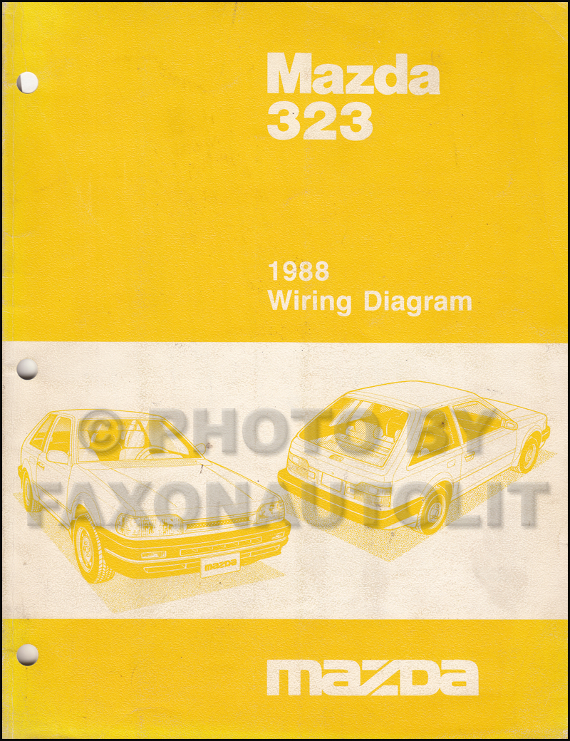 1988 Mazda 323 Hatchback And Sedan Repair Shop Manual Original