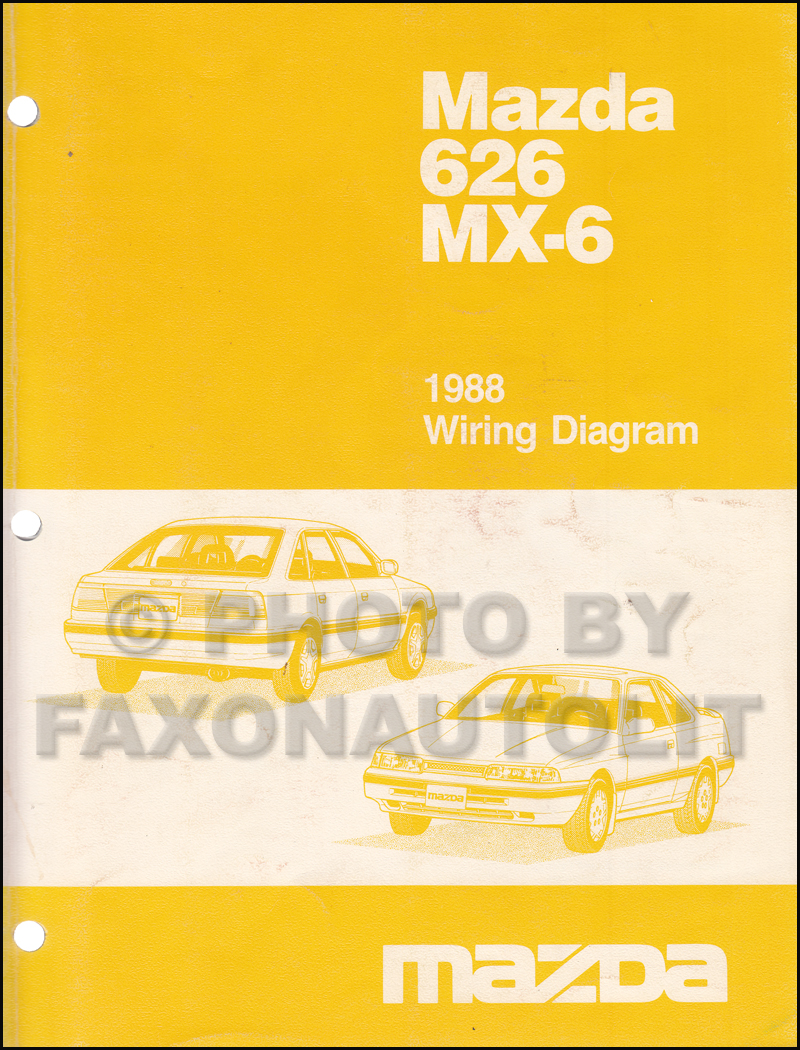 1988 Mazda 626 and MX-6 Wiring Diagram Manual Original