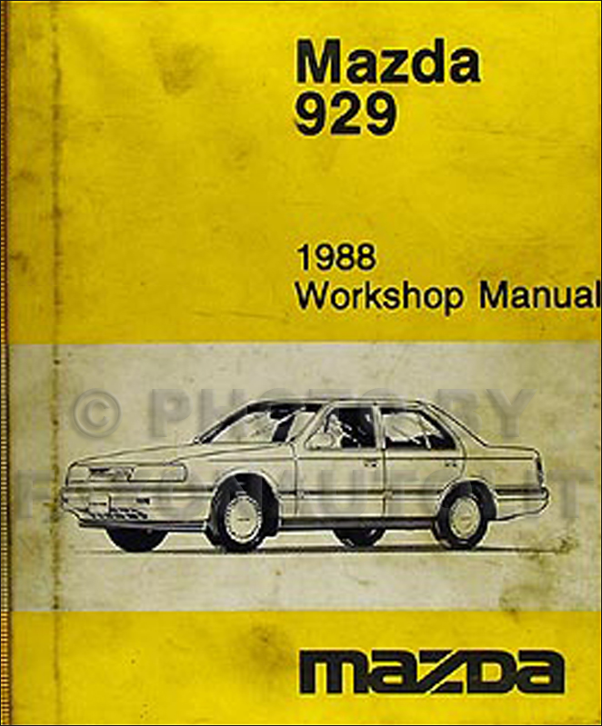 1988 Mazda 929 Repair Manual Original